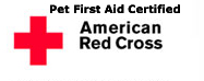 Pet First Aid Certified by the Red Cross
