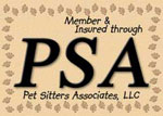 Fully Insured And Bonded By Pet Sitters Associates